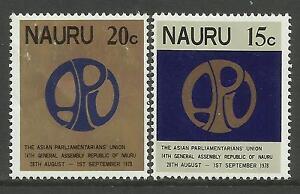 NAURU 1978 PARLIAMENTARY UNION 2v MNH