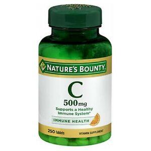 Nature's Bounty Pure Vitamin C 250 tabs 500 mg