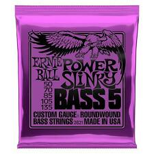 Ernie Ball 5-String Power Slinky Nickel Wound Bass Guitar Strings 50-135 - 2821
