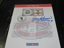 Jean Beliveau Montreal Canadiens Canada Post Stamp Signed Auto*