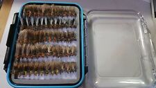 40 Stimulator W/Fly Box Trout Wet Fly Fishing Flies US Veteran Owned