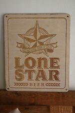 Lone Star Beer Custom Engraved Wood Sign