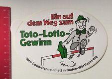 ADESIVI/Sticker: TOTO-LOTTO rennquintett in Baden-Württemberg (040416159)