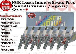 8-Genuine NGK Laser Iridium 90117 Spark Plugs #ILTR6E11 For Ford F150 2010-2014