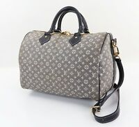Auth LOUIS VUITTON Speedy Bandouliere 30 Blue Idylle Boston Handbag #31751