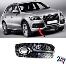 ABS Front Left Bumper Fog Light Lower Grille Cover for Audi Q5 2013-16 Facelift