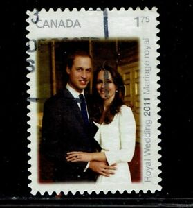 $1.75 William & Kate Used Canada Stamps from 2011
