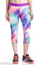 70efecee744e0a adidas Techfit 3/4 Tight Climalite Legging Yoga Running Rainbow Camo Pant  Size L