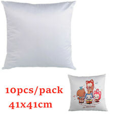 10pcs/pack Polyester Plain White Sublimation Blank Fashion Arm Pillow Cases