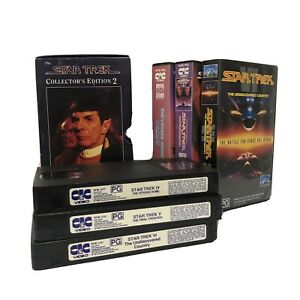 Star Trek Collector's Edition 2 VHS Box The Voyage Home Final Frontier IV V VI