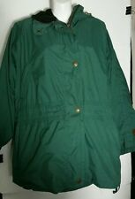 Obermeyer Jacket Coat Women's 12 Large L Hooded Hood Ski Parka Green