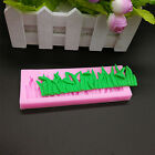 Pink Silicone Grass Shaped Fondant Cake Mold Sugarcraft Pastry Decorating Mould~