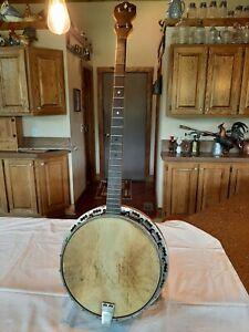 Antique Waverly Tailpiece Vintage Tenor Banjo 4 String