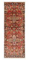 "Hand Knotted Tribal Runner Wool Rust Nomadic Darjazin Oriental Rug 3'3"" x 9'1"""