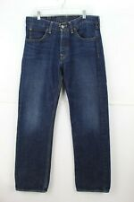 Mens Hollister Pacfic Low Rise Straight 33 * 32 Button Fly Denim Jeans MC36