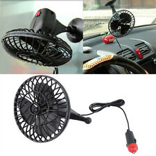 12V 4 Inch Summer Mini Air Fan Car Vehicle Cooling Suction Cup Adsorption LU