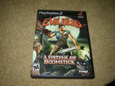 PS2 Evil Dead A Fistful of Boomstick THQ Video Game in Ex Cond Play Station 2
