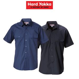 Hard Yakka Mens Permanent Press Shirt Short Sleeve Business Light Work Y07591