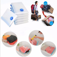 1x Large Vacuum Storage Bag Space Saving Clothes Portable Travel Compressed Bags