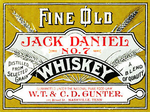 Fine old Jack Daniel decal sticker