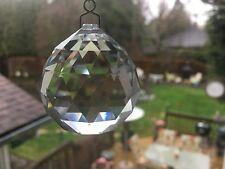 Vintage Crystal Chandelier Prisms W/ Crystal Faceted Ball