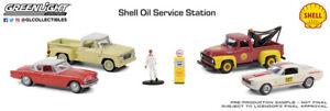 Greenlight Shell Oil Service Center 1:64 Scale Multi-Car Diorama 58055 NIB