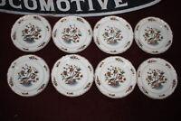 "Vintage Villeroy Boch Mettlach Phoenix Pattern Salad Plates 8 Pieces 9 & 1/4"""