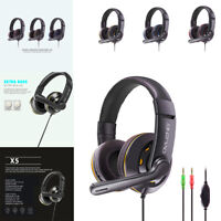 Stereo Bass Surround Gaming Headset Mic LED 3.5mm Headphones For PS4 One PC Xbox