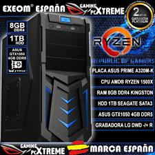 Ordenador Gaming Pc AMD RYZEN 1500X 8GB DDR4 1TB Asus GTX1050 4GB DDR5 Sobremesa