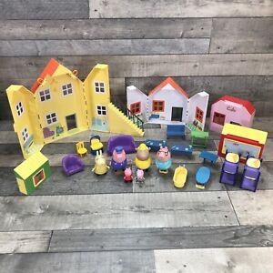 Peppa Pig Toys Bundle House Hospital Cafe Furniture and Figures