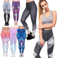 Women Full Length Yoga Leggings Running Gym Sports Various Designs & Colors FFCP