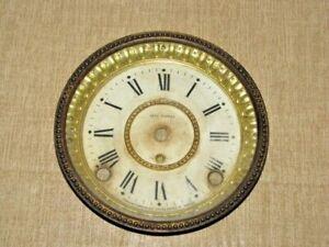 Antique Seth Thomas Mantle Clock Dial and Bezel