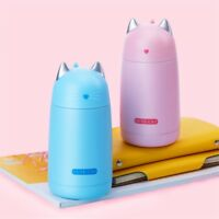 1Pcs 300ml Stainless Steel Vacuum Flask Coffee Bottle Thermo Mug Cat Travel Cup