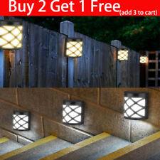 Solar Power 6 LED Path Way Wall Landscape Mount Garden Fence Lamp Outdoor Light