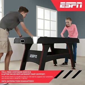 ESPN 5' Air Powered Hockey Table with LED Electronic Scorer, Black/Red