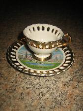 VNTG.1961/64/65 NEW YORK WORLD'S FAIR UNISPHERE TEA CUP & SAUCER~MADE IN JAPAN
