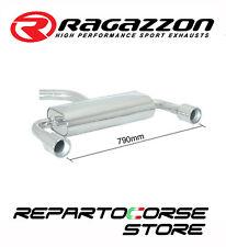 RAGAZZON SCARICO POSTERIORE INOX SDOPPIATO TERMINALI TONDI 2x102 MM  50.0095.06