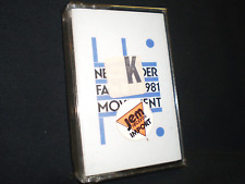 NEW ORDER 'MOVEMENT FACT 50'- RARE AUDIO CASSETTE-SEALED ITALY IMPORT