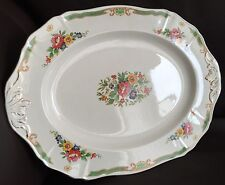"Antique Art Deco 1930s Hand Crafted Alfred Meakin Pattern ""Beauly"" China Platter"
