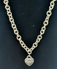 Genuine 925 Tiffany & Co. 'Return To Tiffany' Heavy Chain Necklace - Unboxed