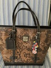 DISNEY DOONEY & AND BOURKE BROWN SKETCH LEATHER TOTE GEN 1 PURSE BAG