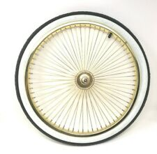 "Lowrider 20"" Front Wheel 14G Gold. Bicycle Wheel Tire Tube Rim Strip"