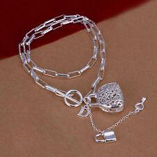 Damenhalskette Venezianerkette Schloss 45cm Halskette pl. mit  Sterlingsilber