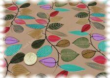 Nevia Leave Stretch-Jersey hellbraun Hilco Shirtstoff Baumwoll-Jersey Blätter