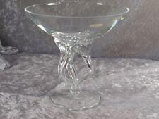 formano Kristallglas Glas Schale auf Fuß Tafelaufsatz Designglas 90er Jahre