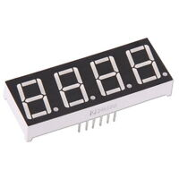 """4-Digit 0.56"""" 7-Segment Color Red LED Display Common Anode Arduino Module"""