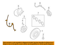KIA OEM 06-12 Sedona ABS Anti-lock Brakes-Front Speed Sensor 956704D100