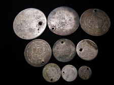 NICE VARIETY ANTIQUE ISLAMIC SILVER COINS, 9 pcs. in LOT!!!