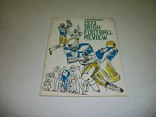 Notre Dame 1973 Irish Scholastic Football Review