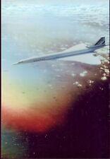 4724 +  PHOTO  CONCORDE  AIR   FRANCE  AVION  SUPERSONIQUE  EN VOL